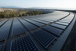 Energía verde - Paneles solares en la sede de Apple