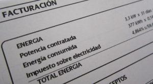 Factura de electricidad