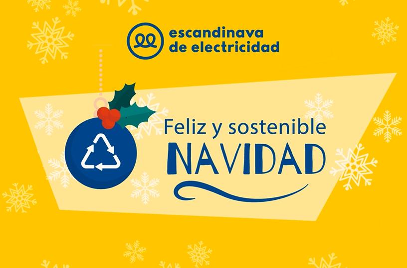 feliz y sostenible navidad escandinava de electricidad